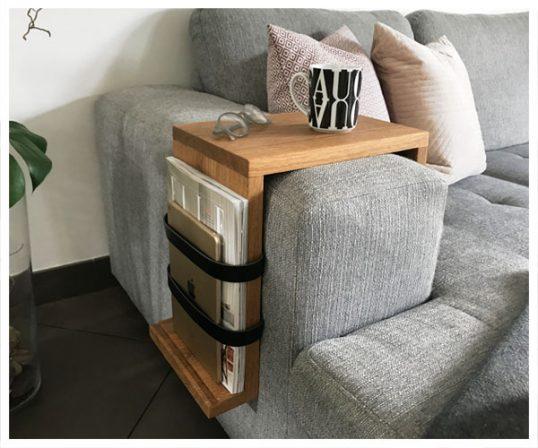 Corfixens sofaarmlæn bord/magasinholder