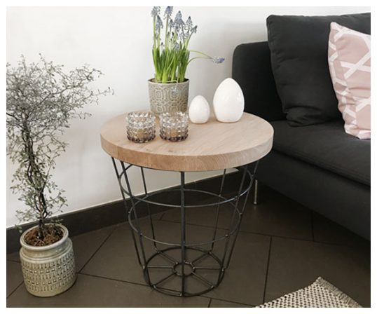 Corfixens sofabord med jernkurv
