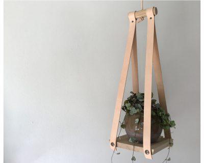 Plantehænger – eg/læder
