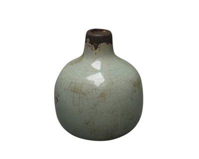 Frytle vase, grøn – 9,5 cm