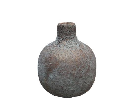 Frytle vase, støvet blå